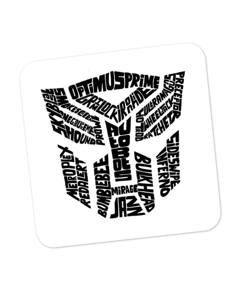 Autobot Optimus Prime Transformer (B&W) Coaster Online India