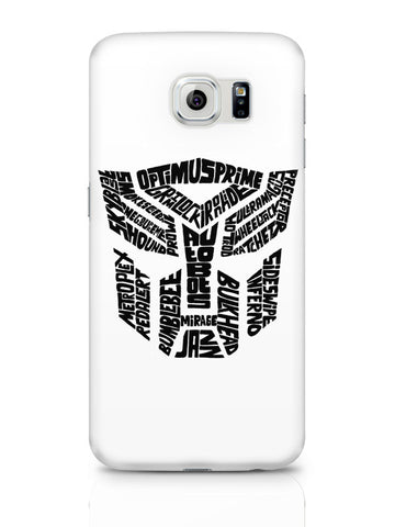 Samsung Galaxy S6 Covers & Cases | Autobot Optimus Prime Transformer (Black And White) Samsung Galaxy S6 Covers & Cases Online India