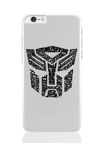 iPhone 6 Plus / 6S Plus Covers & Cases | Autobot Optimus Prime Transformer (Black And White) iPhone 6 Plus / 6S Plus Covers and Cases Online India