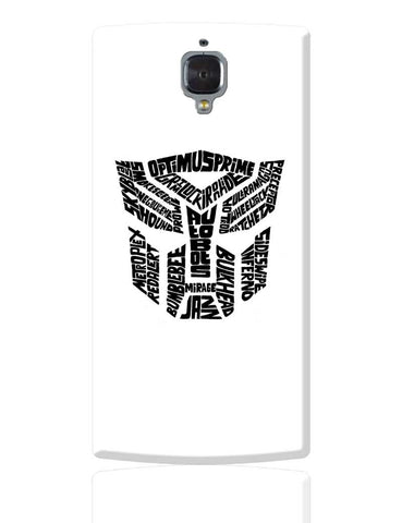 Autobot Optimus Prime Transformer (Black and White) OnePlus 3 Cover Online India