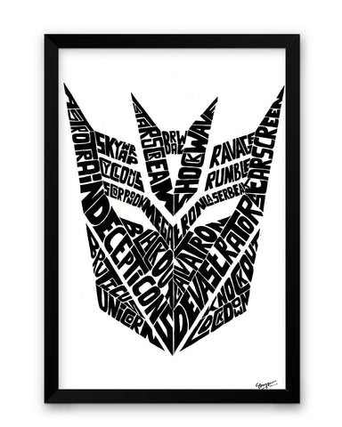 Decepticons Autobots Transformers Inspired Framed Poster Online India