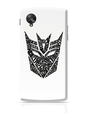 Google Nexus 5 Covers | Decepticons Autobots Transformers Inspired Google Nexus 5 Cover Online India