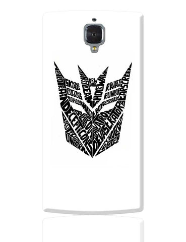Decepticons Autobots Transformers Inspired OnePlus 3 Cover Online India