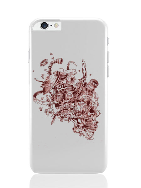 iPhone 6 Plus / 6S Plus Covers & Cases | Mechanical Skull Red iPhone 6 Plus / 6S Plus Covers and Cases Online India
