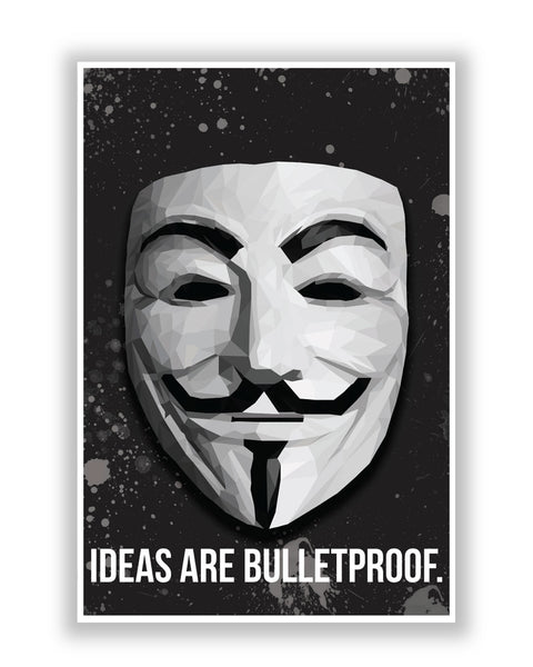 Buy Movie Posters Online | Vendetta Ideas are Bulletproof Poster | PosterGuy.in