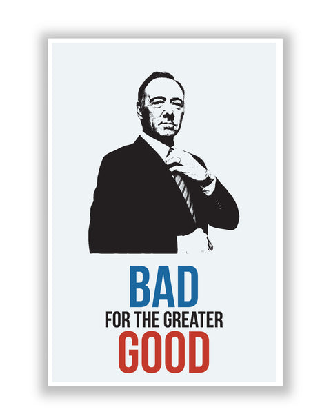 Buy TV Posters Online | House of Cards F. Underwood Poster | PosterGuy.in