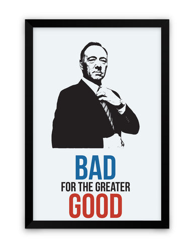 Framed Poster | House of Cards Frank Underwood Quote Matte Laminated Framed Poster PosterGuy.in