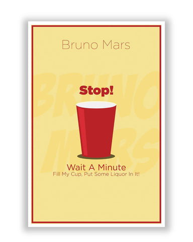 Posters | Uptown Funk Bruno Mars Song Inspired Poster Online India