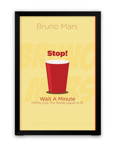 Framed Posters | Uptown Funk Bruno Mars Song Inspired Laminated Framed Poster Online India