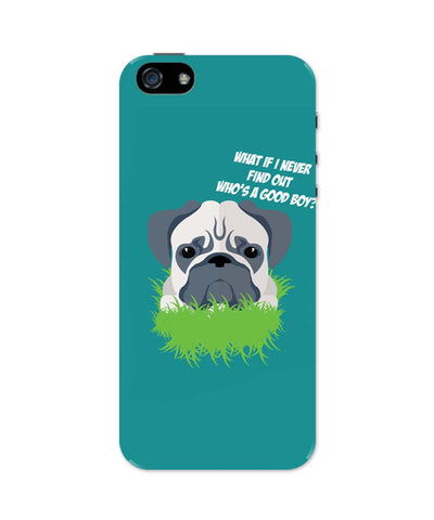 iPhone 5 / 5S Cases| Who's a Good Boy | Pug Funny Face iPhone 5 / 5S Case Online India