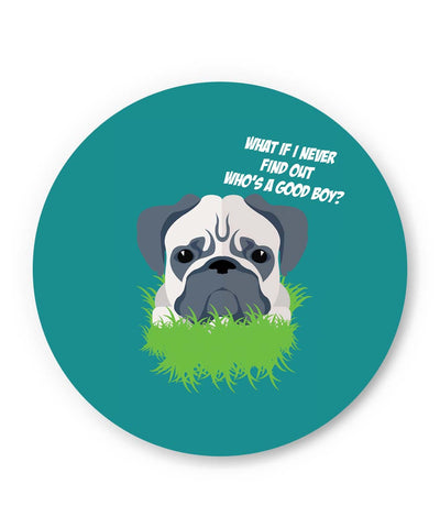 PosterGuy | Who's a Good Boy | Pug Funny Face Fridge Magnet 1243108319 Online India