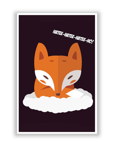 Posters Online | What Does The Fox Say Song | Hatee Hatee Poster Online India | Designed by: Rohit Malhotra