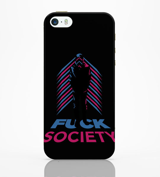 iPhone 5 / 5S Cases & Covers | Fuck Society Mr. Robot Inspired Art (Black) iPhone 5 / 5S Case Online India