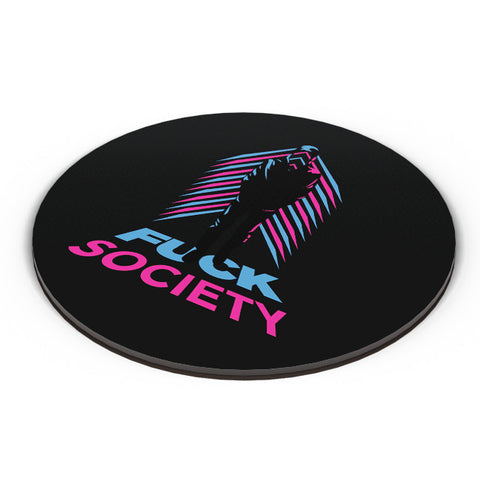 PosterGuy | Fuck Society Mr. Robot Inspired Art (Black) Fridge Magnet Online India by Rohit Malhotra