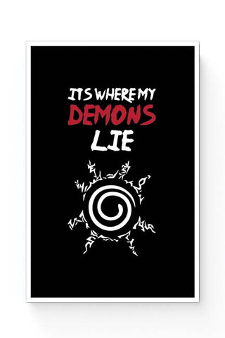 Posters Online | It'S Where My Demons Lie | Imagine Dragons (Black) Poster Online India | Designed by: Rohit Malhotra