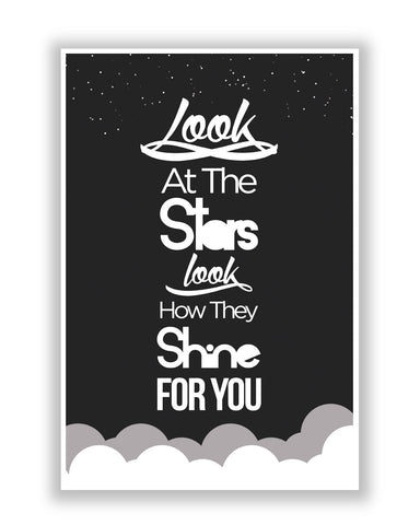 Buy Music Posters Online | Look at the stars Coldplay Yellow Inspired Poster | PosterGuy.in