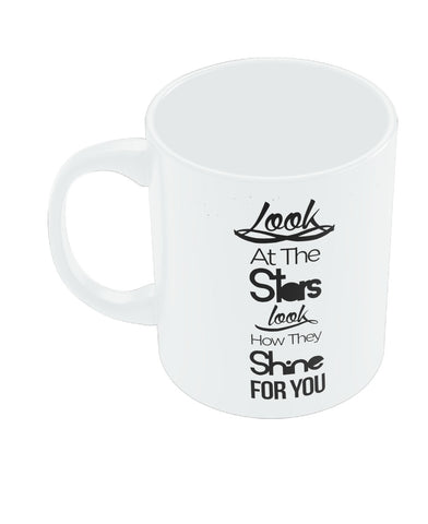 Look at the stars Coldplay Yellow Inspired Coffee Mug Online India