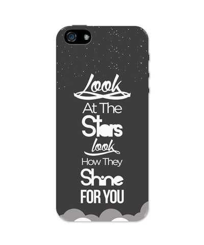 Look at the stars Coldplay Yellow Inspired iPhone 5 / 5S Case