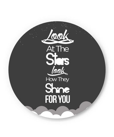 Look at the stars Coldplay Yellow Inspired Fridge Magnet Online India