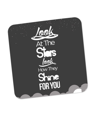 Look at the stars Coldplay Yellow Inspired Coaster Online India