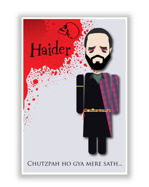 Buy Movie Posters Online | Haider Chutzpah Ho Gaya Mere Sath Design Poster | PosterGuy.in