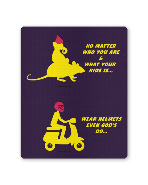 PosterGuy | No Matter What Your Ride Is Wear Helmets Mouse Pad 1253116016-mp Online India