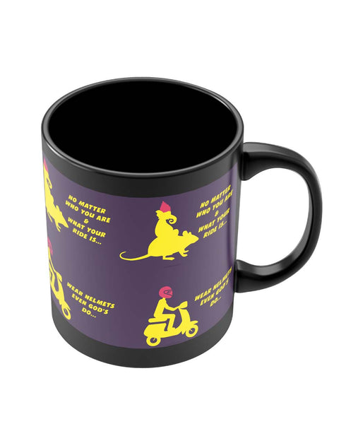 Mugs | No Matter What Your Ride Is Wear Helmets Black Coffee Mug Online India