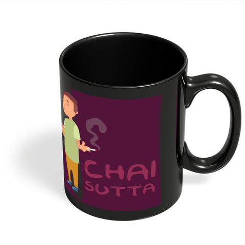 Coffee Mugs Online | Chai Sutta Black Coffee Mug Online India