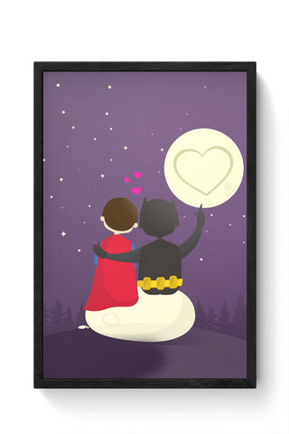 Framed Posters Online India | Funny Romantic Tale Laminated Framed Poster Online India