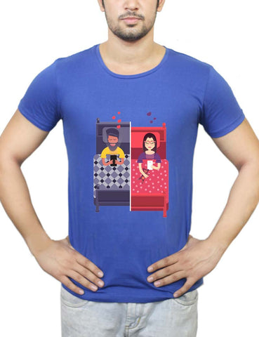 Buy Texting Couple T-Shirts Online India | Texting Couple T-Shirt | PosterGuy.in