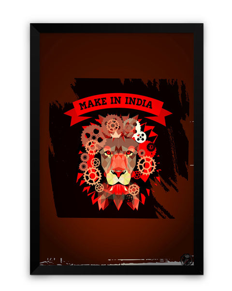Framed Poster | Make in India Matte Laminated Framed Poster PosterGuy.in