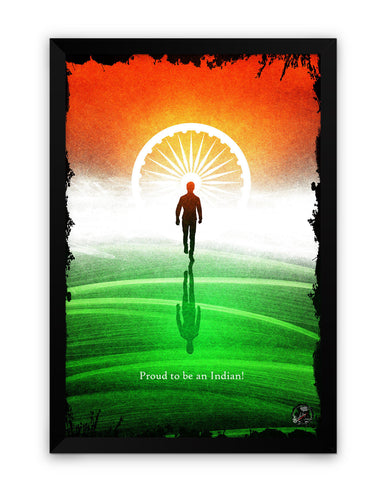 Framed Poster | Proud Indian Matte Laminated Framed Poster PosterGuy.in