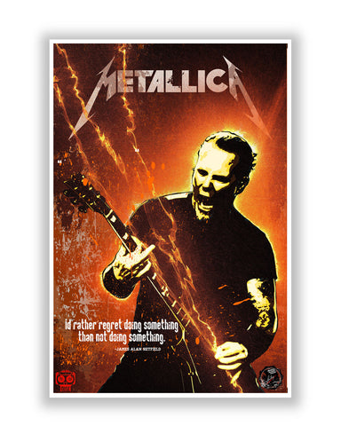 Buy Music Posters Online | James Hetfield Metallica Poster | PosterGuy.in