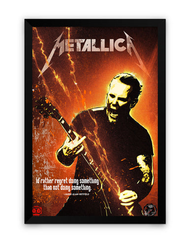 Framed Poster | James Hetfield Metallica Matte Laminated Framed Poster PosterGuy.in