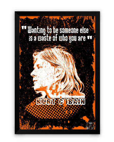 Framed Poster | Kurt Cobain Nirvana Matte Laminated Framed Poster PosterGuy.in