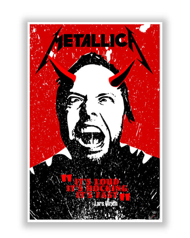 Buy Music Posters Online | Lars Ulrich Metallica Poster | PosterGuy.in