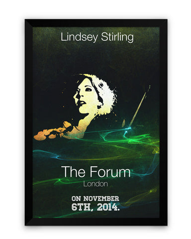 Framed Poster | Lindsay Striling Quote Matte Laminated Framed Poster PosterGuy.in