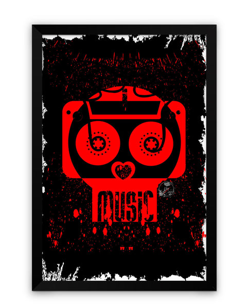 Framed Poster | Music Heaven Matte Laminated Framed Poster PosterGuy.in