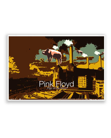 Buy Music Posters Online | Pigs on the Wing Pink Floyd Poster | PosterGuy.in