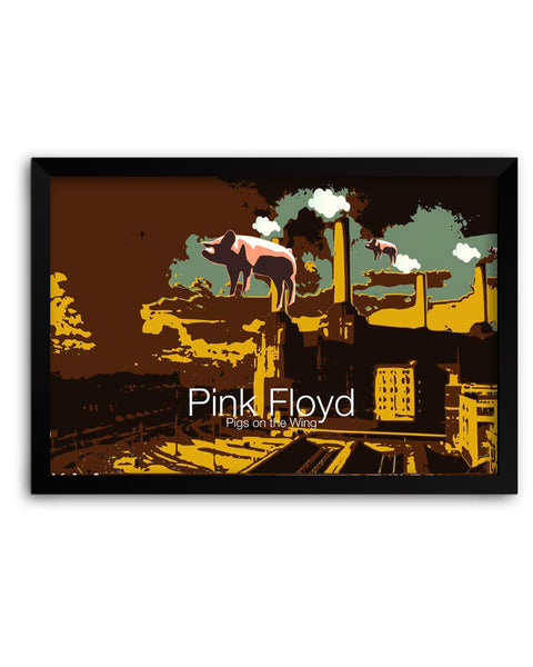 Framed Poster | Pigs on the Wing Pink Floyd Matte Laminated Framed Poster PosterGuy.in