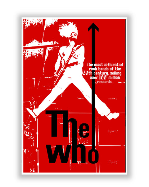 Buy Music Posters Online | The Who Pete Townshend Rock  Poster | PosterGuy.in