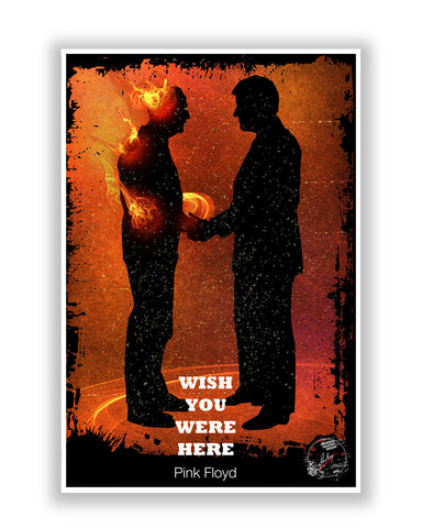 Buy Music Posters Online | Wish You Were Here Pink Floyd Poster | PosterGuy.in