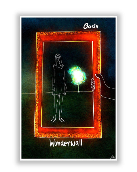 Buy Music Posters Online | Wonderwall Oasis Poster | PosterGuy.in