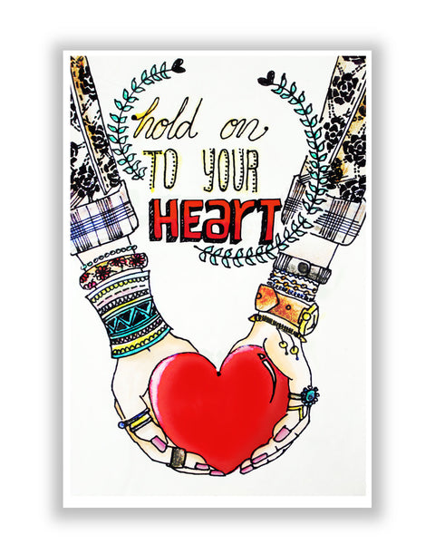 Buy Motivational Posters Online | Hold on to your heart Poster | PosterGuy.in