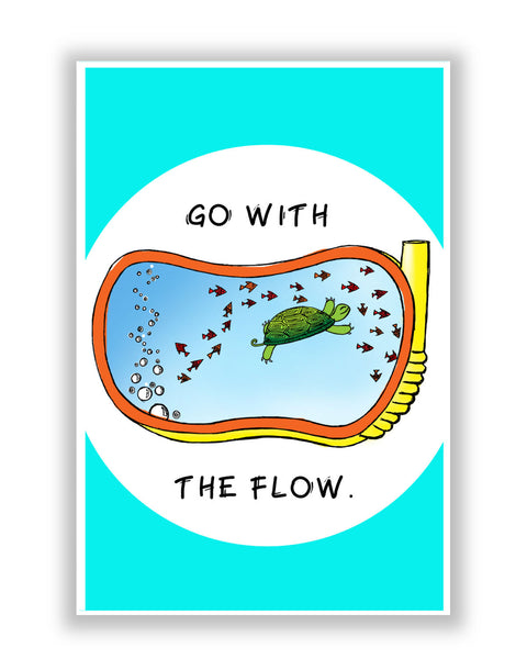 Buy Motivational Posters Online | Go With the flow Poster | PosterGuy.in
