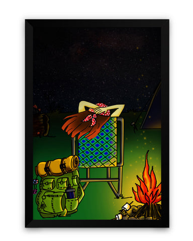 Framed Poster | Bonfire Night Matte Laminated Framed Poster PosterGuy.in