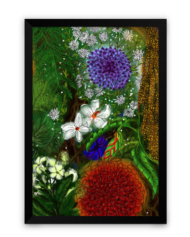 Framed Poster | Summer Wild Flowers Matte Laminated Framed Poster PosterGuy.in