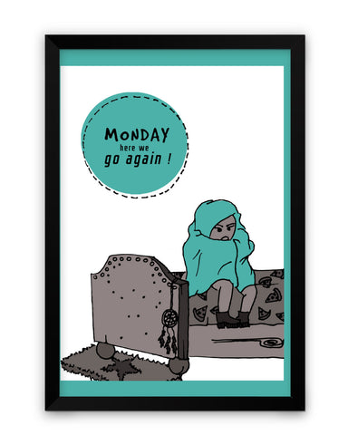 Framed Poster | Mondays Matte Laminated Framed Poster PosterGuy.in