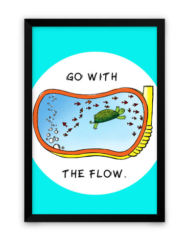 Framed Poster | Go With the flow Matte Laminated Framed Poster PosterGuy.in