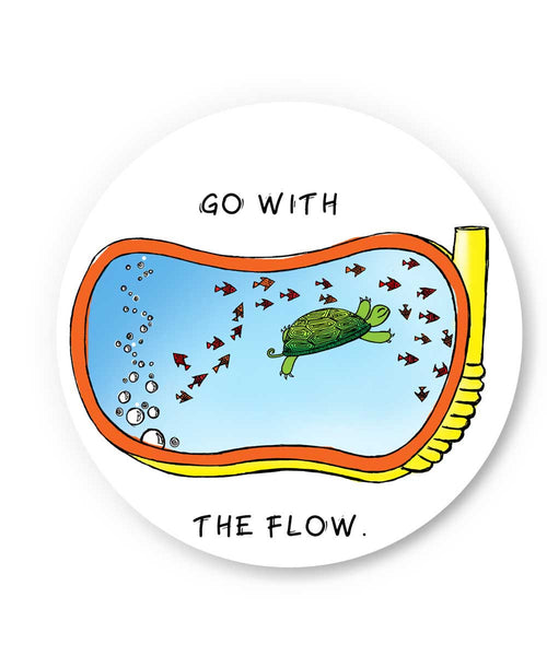 Go With the flow Fridge Magnet Online India